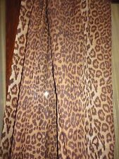 LOIS HORNICK ARAGON LEOPARD ANIMAL SEMI SHEER SCARF CURTAIN VALANCE 57 X 214