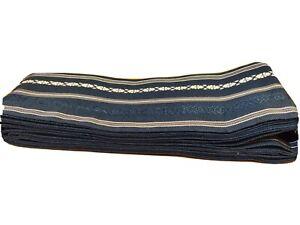 Blue Vintage Authentic Traditional Yukata Japanese Obi Belt 12ft Long