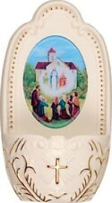 OUR LADY OF KNOCK PORCELAIN HOLY WATER FONT - STATUES CANDLES PICTURES LISTED