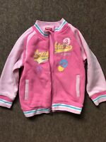 Girls Baseball Jacket Age 8 Years Old Pink Hoodie Bomber Jacket