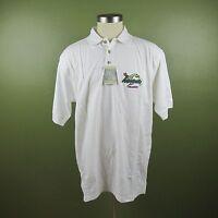 Jimmy Buffett's Margaritaville Men's XXL White Polo Short Sleeve Shirt  New