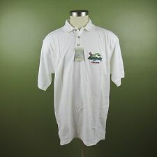 Jimmy Buffett's Margaritaville Men's XXL White Polo Short Sleeve Shirt  NWT