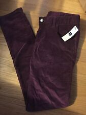 NWT 12 R Gap Kids1969 Straight Purple Corduroy Pants superlastic w/ adj waist