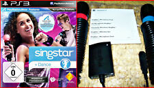 Ps3 SingStar Dance Party + 2 SingStar micrófonos + USB * * karaoke diversión-Move kompapibel