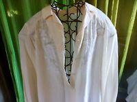 T3/4  BLANC CRéME ,SOIE superbe corsage ,brodé,   élégance assurée  vintage