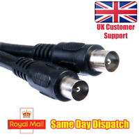1.5m Coaxial Cable TV Aerial Cable Black UK Standard End August TAC15B-IEC