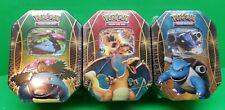 Pokemon XY 2014 EX Tins Trio 12 Booster Packs Flashfire,Plasma Blast NEW!