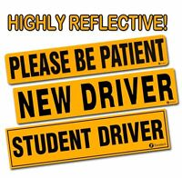 Zone Tech Student Driver  New Driver Please Be Patient Reflective Bumper Magnet