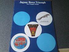 Jaguar Rover Triumph Brochure The Complete Range inc Sd1 Tr7 Xjs Dolomite Sprint