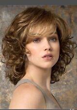 New Fashion Charm ladies short mix Brown Natural Hair Full wigs