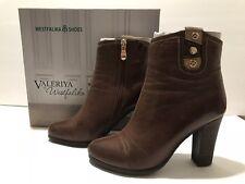 Valeriya by Westfalika Ankle Boots Heels Leather Brown 35/ 5