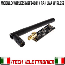 Modulo NRF24L01+ PA + LNA wireless 1100mt con antenna 2,4 Ghz arduino