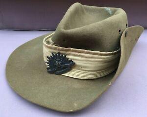 Vintage Australian Army SLOUCH HAT, Rising Sun Badge-Military, World War 2? WW2?