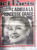 ICI PARIS  NUMERO SPECIAL  L'ADIEU A LA PRINCESSE GRACE