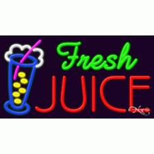 "New ""Fresh Juice"" 37x20x3 W/Logo Real Neon Sign w/Custom Options 11711"