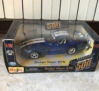 Macchinina Maisto 1/18 dodge Viper gts blu bianca Indianapolis 500