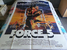 AFFICHE  KARATE / CLOUSE / LEWIS / FORCE 5