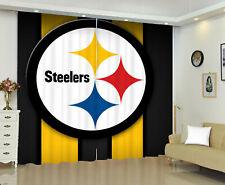 Pittsburgh Steelers Printed 1 Panel Window Panels Window Curtains Bedroom Drape