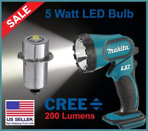 Makita 18V Flashlight LED Replacement Bulb P13.5S 1Watt or 5Watt 1W 5W NEW