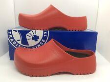 BIRKENSTOCK Womens Super Birki Red Slip On Clogs Shoes Size 6 EU37 ZB6-1276