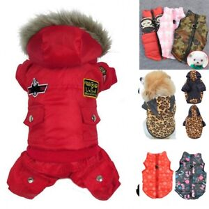 Pet Dog Winter Warm Coat Jacket Clothes Puppy Chihuahua Padded Apparel Costume