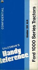 FORD 1100, 1200, 1300 1500, 1700, 1900  CONFIDENTIAL SALES REFERENCE  MANUAL