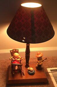Underwriters Laboratories Night Stand Portable Nursery Lamp Music Box Shade