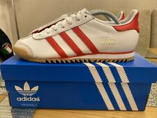 Adidas Vienna White Red 😍 Size 8 80s Football Casuals RETRO City Series Rom