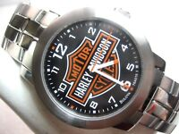 BULOVA HARLEY-DAVIDSON 76A019 MEN'S CASUAL STAINLESS STEEL WATCH /ANALOG/MODERN