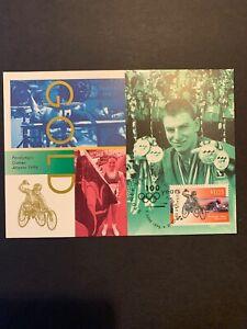 1996/ AUSTRALIA Maxi Card set (3v).   CENTENARY OF MODERN OLYMPICS (sealed)