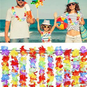 5PCS Hawaiian Leis Hula Flower Garland Aloha Hawaii Beach Hen Stag Party Pride