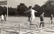 WWII German Large RPPC- Army Soldier- Semi Nude- Sports Event- High Hurdle- 40s
