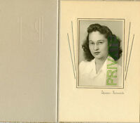 Vintage Photo - Sacramento, California - Young Lady Wearing Glasses in Folder