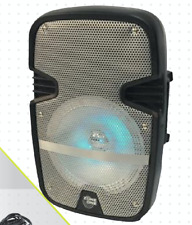 "ZONE ONE Portable 1500 Watts Peak Power 8"" Speaker w/ LED & Mic - Black"