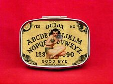 OUIJA BOARD CRYSTAL BALL GYPSY PIN UP GIRL PSYCHIC METAL PILL MINT CASE