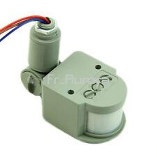12M Security Infrared PIR Motion Sensor Detector Wall LED Light RF 140° 12V Gray