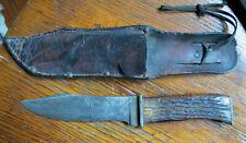 KABAR STAG HUNTING KNIFE with SHEATH - UNION CUTLERY CO OLEAN NY KA-BAR Original