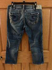 Silver Aiko blue Jean denim Capri cropped pants W31