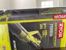 Ryobi electric jet fan blower open box