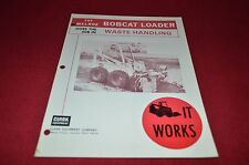 Bobcat Skid Steer Does The Job in Waste Handling 1976 Dealers Brochure DCPA2