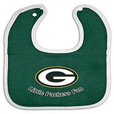NFL Infant Baby Bib Green W/Gray Trim Green Bay Packers