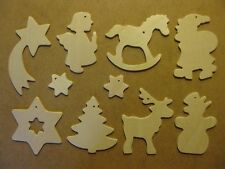Hanging Christmas decorations - paint colour your own - Lovely stocking filler