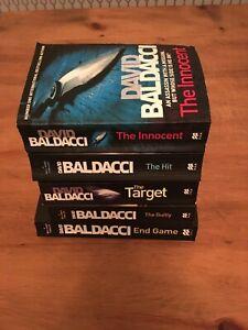 Bundle of 5 David Baldacci - Will Robie books great super assassin series