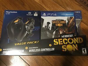 DUALSHOCK4-CHARGING STATION-SECOND SON(value pack) NEW