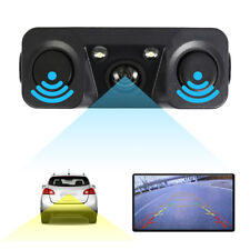 3 in1 170° Car Visual Reversing Rear View Camera Backup Parking Sensor Buzzer UK
