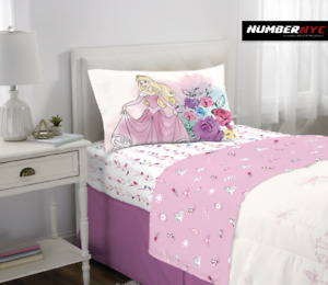 Disney Princess 3 Piece Microfiber Twin Bedding Sheet Set Pillowcase Kids Girls