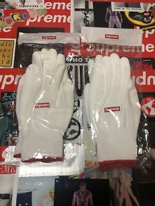 Supreme FW20 2 PAIRS White Rubberized Work Gloves OS FAST SHIPPING
