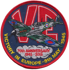 VE Victory in Europe 70th Anniversary Embroidered Patch
