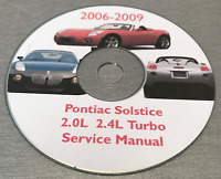 2006-2009 Pontiac Solstice/Saturn SKY, OEM GM Service Manual on CD