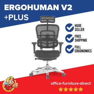 *NEW* Ergohuman V2 Plus Deluxe Office Desk Home Gaming Chair Headrest Mesh Seat